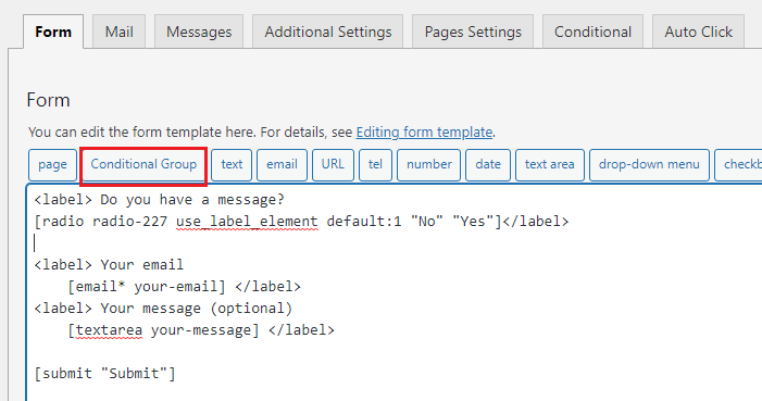 cf7 conditional form