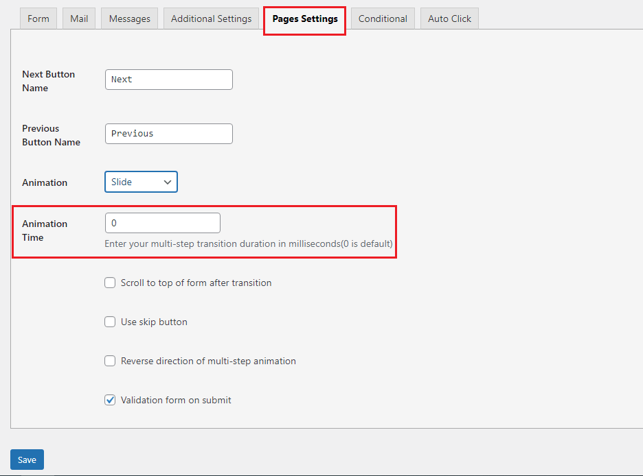 contact form transition duration